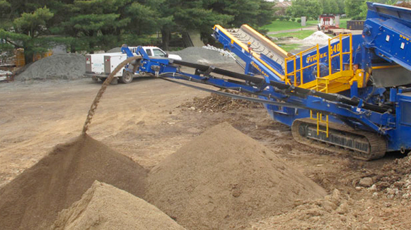topsoil screening machine